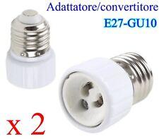 ADATTATORE CONVERTITORE DA E27 A GU10 LAMPADE FARETTI LED E27-GU10 2 PEZZI