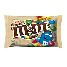 M&M's King Size Sharing Size Bags, Choloclate Almond Candies, 2.83 oz, 18 ct