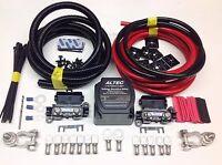 5mtr Professional Split Charge Kit 12v 140amp M-Power Voltage Sense Relay