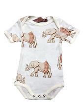 Milkbarn Short Sleeve Bamboo One Piece Tutu Elephant 3-6 Months