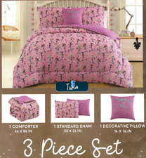 Pink Mermaid TWIN Comforter Set with Sham and Decorative Pillow Mermaid at Heart