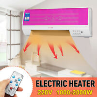 2000W Wall Mounted Desktop Heater 220V Timing Air Conditioner Remote Control