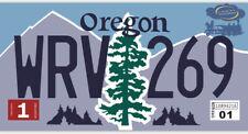 Plaque d'immatriculation américaine Oregon