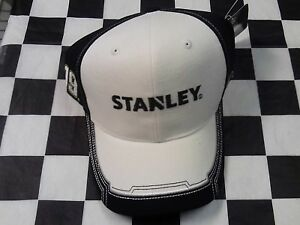 Carl Edwards #19 NASCAR Ball Cap Hat NEW black white Stanley Tools