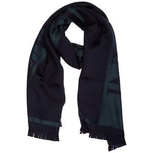 Emporio Armani wool scarf men 6250340A33400036 Night blue shawl