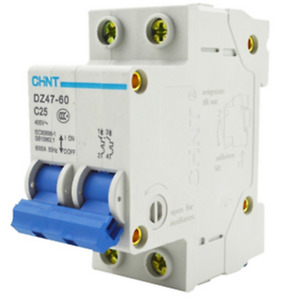 DZ47-60 C25 400V 2P 25A Rated Current 2 Pole Miniature Circuit Breaker