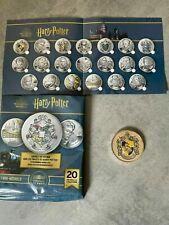 Collection Médaille Harry Potter- Monnaie de Paris 2021- POUFSOUFFLE Colorée