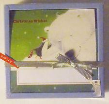 Christmas Cards Box of 16 with Envelopes Polar Bear and Penguin Nib