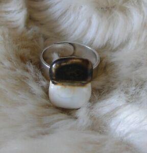 Designer Weißgold Maria De Carvalho Schmuck Ring Keramik Porzellan Limoge N 12