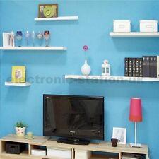 One White Satin Gloss Floating Shelf Shelving Bookshelf Skybox CD DVD Display