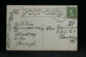 RPO: Pueblo & Creede 1910 Greeting Postcard, Colorado Railroad