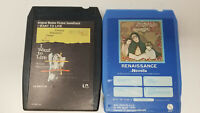 Set of 2 8 Track Tapes I Want To Live Soundtrack Renaissance Novella