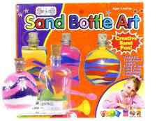 NEW CHILDRENS SAND ART BOTTLE SET KIDS CREATIVE SAND ACTIVITY KIT