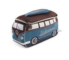 Official VW Camper Van Waterproof Neoprene Mens Toiletry Wash Bag - Blue  Brown