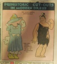 Alley Oop Sunday by VT Hamlin from 7/4/1937 Tabloid Size Page Rare! Paper Doll