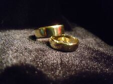 (WHY WEAR 10K,14K) USA PLACER 22K SOLID GOLD BULLION WEDDING SET APM JEWELRY #4L