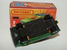 Matchbox Superfast No 7 VW Golf Green , GREY Base MIB RARE