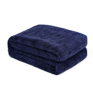 """Carcarez Large Water Absorbing Car wash Microfiber Drying Towel Hemming 25 x 36"""""""