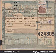 FRANCE COLIS POSTAUX N°208 SUR BULLETIN D'EXPEDITION DU 25/10/1943
