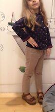 Monnalisa Jeans schicke velvet Hose Mädchen Gr. 116  122 6 -7 Jahre  wNeu