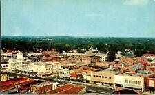 1950'S. BIRDS EYE VIEW OF GOLDSBORO, NORTH CAROLINA. POSTCARD xz6