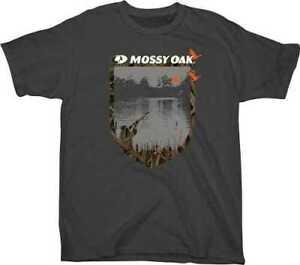 "Mossy Oak Apparel MEN'S T-Shirt Large ""Camo Man"" Charcoal - Choose M, L, XL, 2XL"