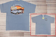 T-shirt CHEVROLET CORVETTE Route 66 con cartellino ORIGINALE GM azzurra XL
