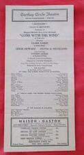 1939 PLAYBILL CATHAY CIRCLE THEATRE L.A. GONE WITH THE WIND CLARK GABLE V LEIGH