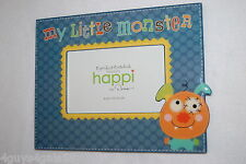FRAME Table Top MY LITTLE MONSTER Glossy SLATE BLUE Kid 10x7.5 for 4x6 photo