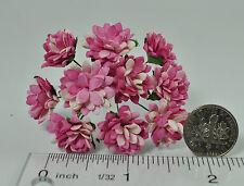 Mulberry Paper Flower Tiny Aster Whitish Medium Cranberry Pink handmade daisy