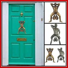 Funny Antique Doorbell Door Knocker Figure Hanging Sculpture Decoration Vintage