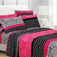 American Home Collection Ultra Soft 4-6 Piece Patchwork Printed Bed Sheet Set