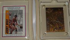 JERRY WEST 1995 Highland Mint Hardcourt Legends 4.25 OZ. BRONZE Card /2,500