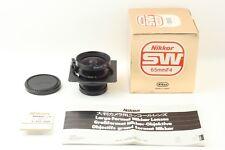 Nikon NIKKOR SW 65mm F/4 Lens【Allmost Unused in BOX】w/COPAL O manual From JP 335