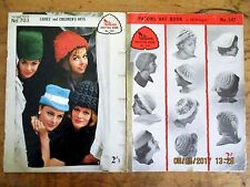 ~VINTAGE KNITTING PATTERN BOOKS- PATONS No. 547 & 703 - HATS for LADIES/CHILDREN