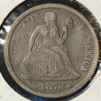 1873 Arrows at Date, 10C Liberty Seated Dime (54289)