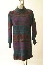 Vintage Missoni Sweater Dress Orange Label Long Sleeve Mock turtleneck Italy 8