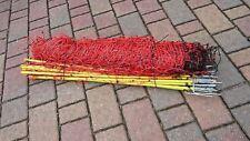Schafnetz mit Doppelspitze 50 m 90 cm Hoch Weidezaun Schafe Netz orange