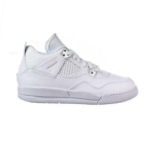 Jordan 4 Retro Little Kids (PS) Shoes White-Metallic Silver 308499-100