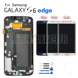 For Samsung Galaxy S6 edge G925F LCD Display Touch screen Digitizer+frame+cover