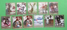 Nederland NVPH 2306 t/m 2315 + 2312* Goede doelen Decemberzegels 2004 gestempeld