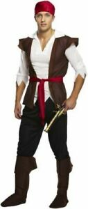 Pirate Caribbean Man Fancy Dress Mens Standard Costume