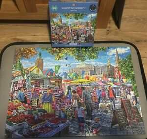 Gibson's Jigsaw Puzzle 1000 Pieces Market Day, Norwich