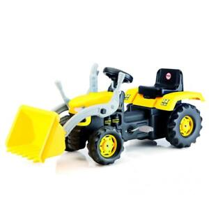 Dolu Kids Ride On Tractor Pedal Operated Toy Excavator Yellow 3+ Outdoor Garden