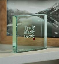 Spaceform Paperweight Truly Madly Deeply Love Gift Ideas Him Men & Her 0961