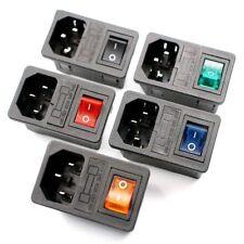 Toma de alimentación macho IEC320 C14 Con Interruptor Fusible Conector Plug Conector