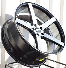 """20"""" STR607 CV3 Style Wheels 5x114 Gloss Black Machine Face Rims 20x9 20x10.5 +40"""