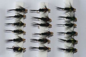 18 Gold Head Montana Stonefly Nymphs Short Shank Trout Fly Fishing Flies