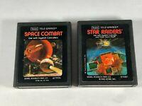 Space Combat & Star Raiders Game Cartridges - Sears - Atari 2600 - Free Ship