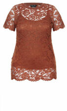 Cotton Blend Short Sleeve Stretch Tops for Women
